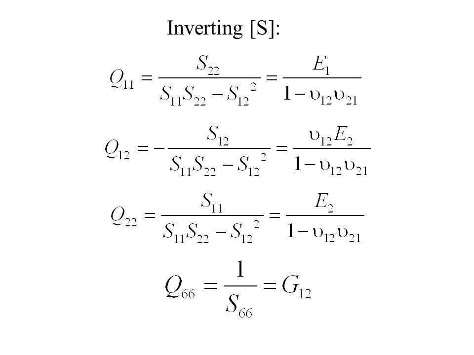 Inverting [S]: